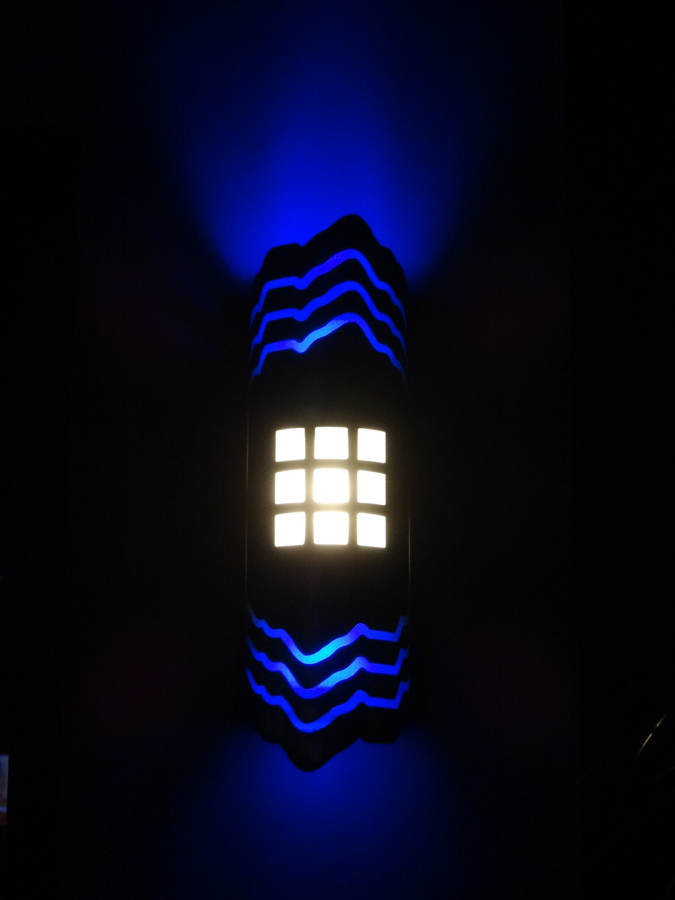 Custom Color-Changing LED Exterior Wall Sconce