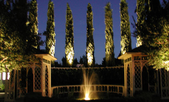 Custom Lit Water Feature Lighting