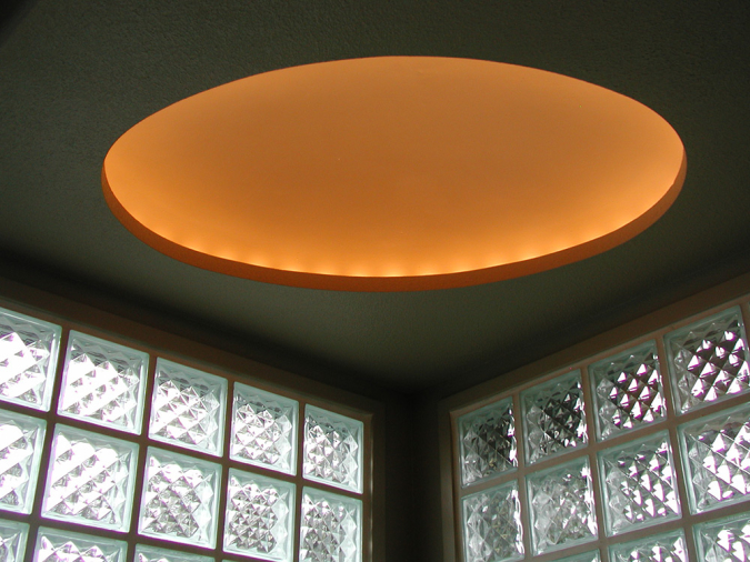 Custom Illuminated Plaster Dome over Spa