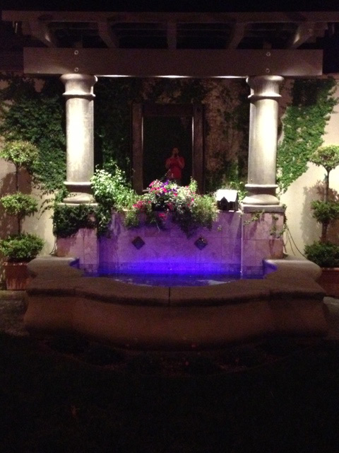 Illuminated Color-Changing LED Outdoor Water Feature