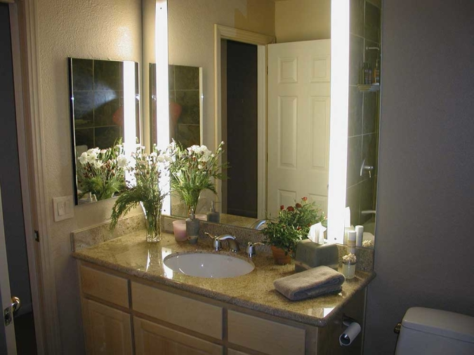 Custom Bathroom Mirror Lighting Sestak Lighting Design - Custom bathroom lighting