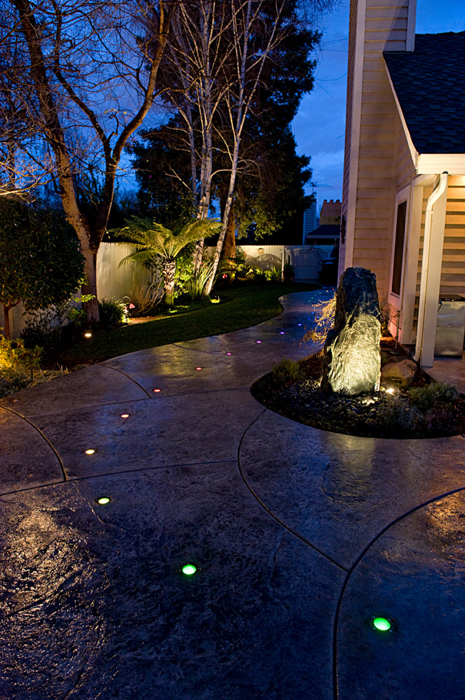 Custom Lighting Features in Backyard Remodel