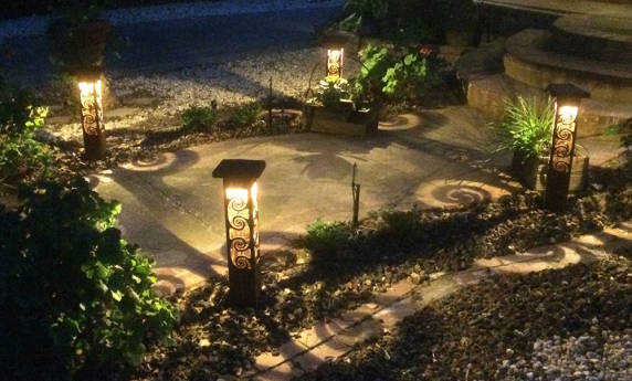Custom Metal Sculptural Landscape Lighting
