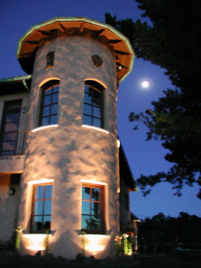 Custom Tuscan Turret Lighting